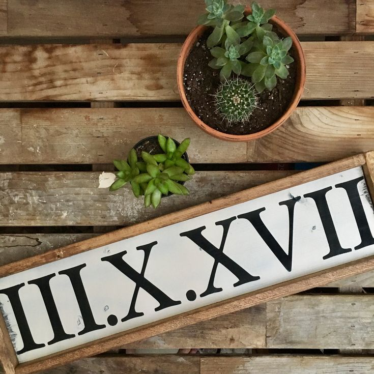 Roman Numeral | Date | Anniversary | Wedding | Framed Wooden Sign by TastefulTimber on Etsy https://www.etsy.com/listing/521479081/roman-numeral-date-anniversary-wedding