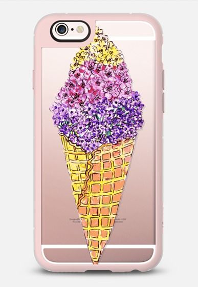 Casetify iPhone 7 Case and Other iPhone Covers - FLORAL ICE CREAM by KANIKA MATHUR | #Casetify
