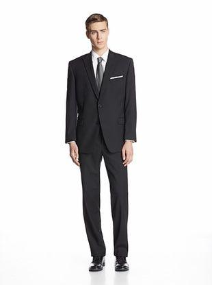 63% OFF Calvin Klein Men's Mercy Dot Two Button Suit (Black)