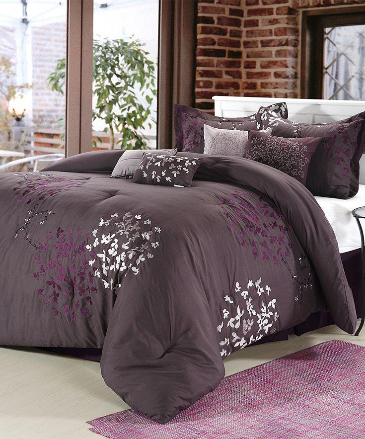purple cheila comforter set bedroom comforter setsplum