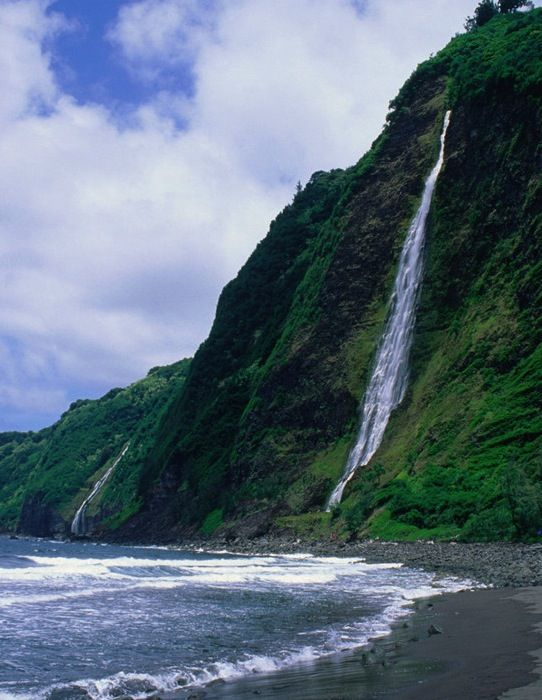 Waipio Valley Beach, Big Island                                                                                                                                                                                 More