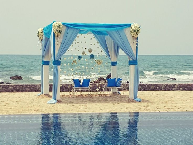 Beach Side Blue Mandap Decor