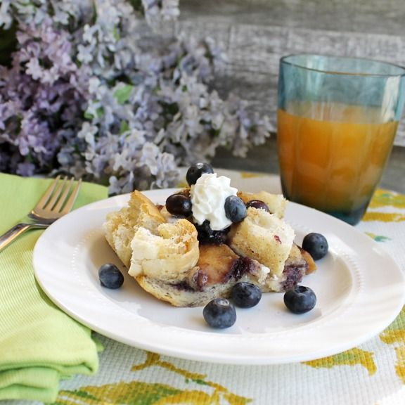Easy Overnight Blueberry French Toast Casserole   -   at ALittleClaireification.com #recipe #breakfast