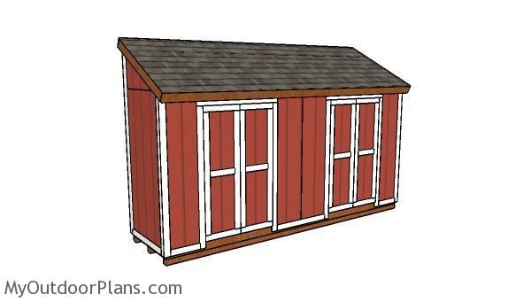 This Step By Step Diy Project Is About 4x16 Storage Shed Plans I Have Designed This Narrow Shed With A Lean To Roof So Shed Plans Lean To Shed Plans
