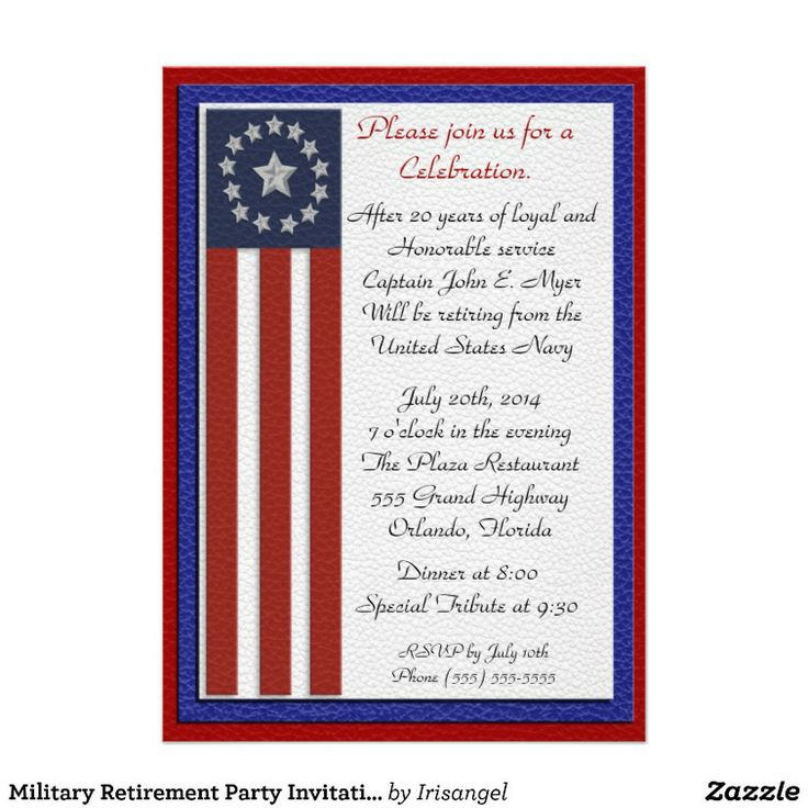 15 best Military Retirement Invitation Template images on ...