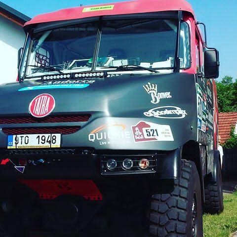 #truck #dakar #albertllovera #beseda #bonverdakarproject #sunnyday #moravicany #teamdakar