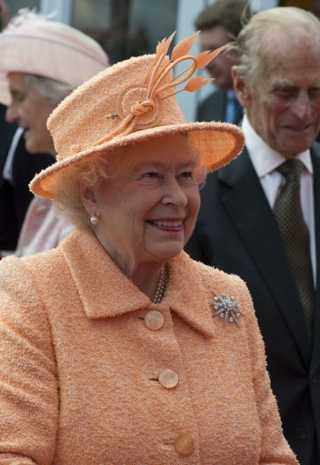 The Queen during a visit to the Tees Barrage where she officially opened The Queen Elizabeth II Diamond Jubilee White Water Course, Stockton on Tees, 18 July 2012.