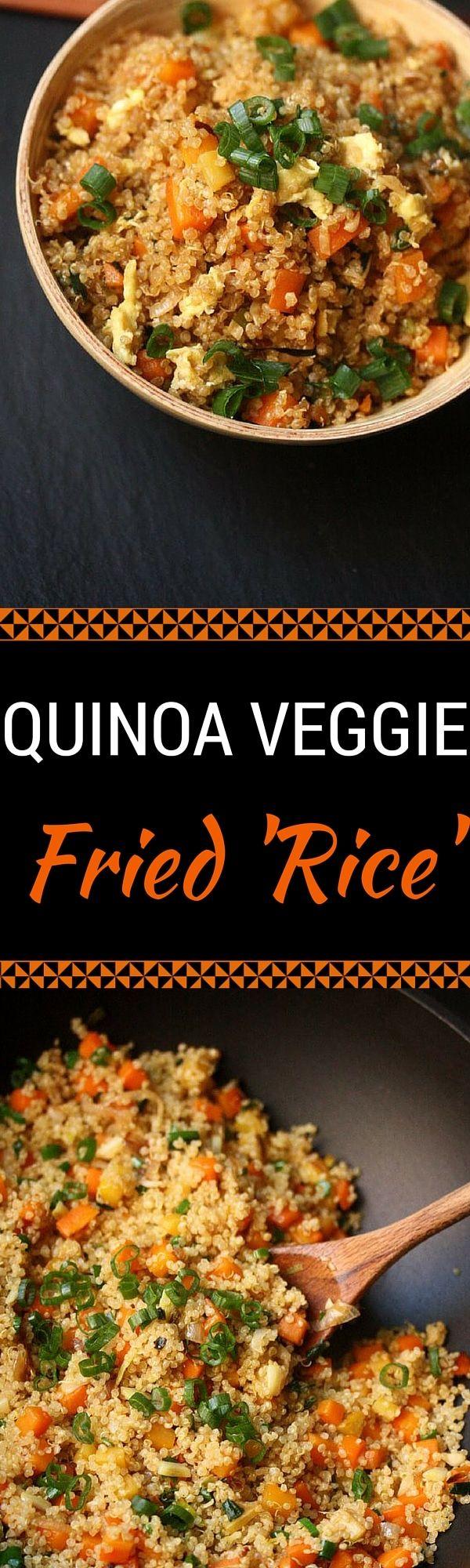 Quinoa Fried Veggie Rice - This Quinoa Fried Veggi…