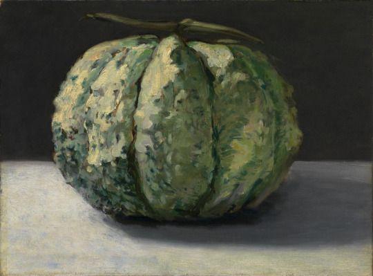 Édouard Manet, The Melon, c. 1880. Oil on canvas, 32.6 x 44.1 cm.