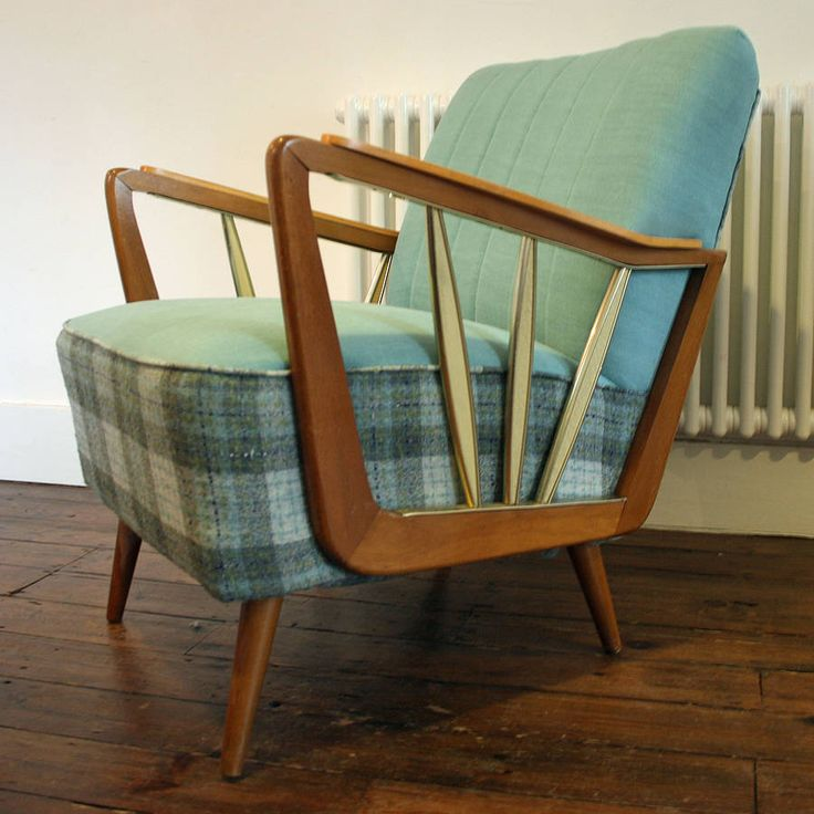 Interior design | decoration | home decor | furniture | 1950'S Reupholstered Southbank Chair | Come enjoy the experience of buying or selling real estate in NYC with us at http://philippechoplin.elliman.com/