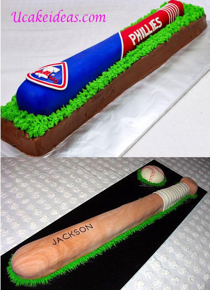 A Wide Range of Baseball Cake Ideas, Baseball Bat Cake Ideas