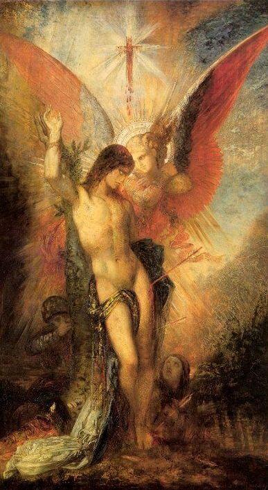 Gustave Moreau, San Sebastiano e un angelo, 1876