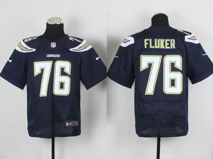 Men's NFL San Diego Chargers #76 Fluker D.Blue Elite Jersey