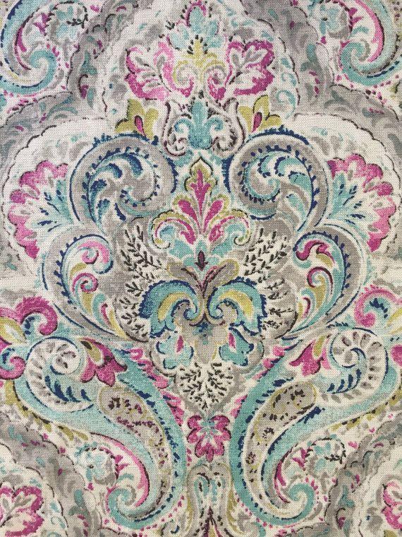 Brighton Mint Damask Upholstery Fabric By The By Shopmyfabrics