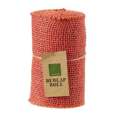 Shamrock Craft Burlap Coloured Roll Coral