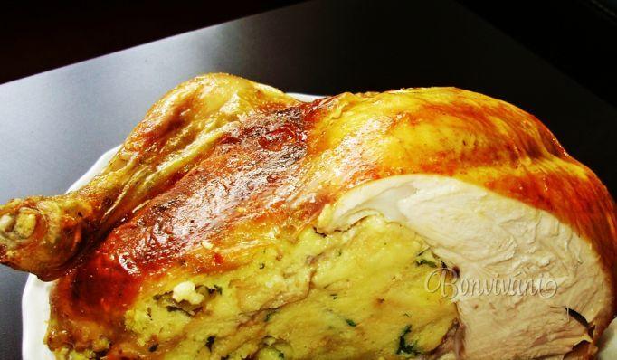 Plnené kura • recept • bonvivani.sk