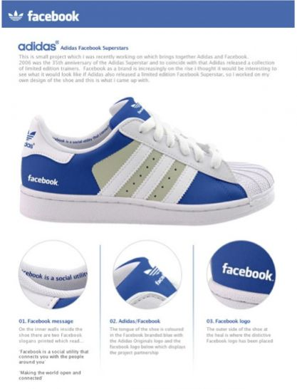 Facebook shoes ... of course.