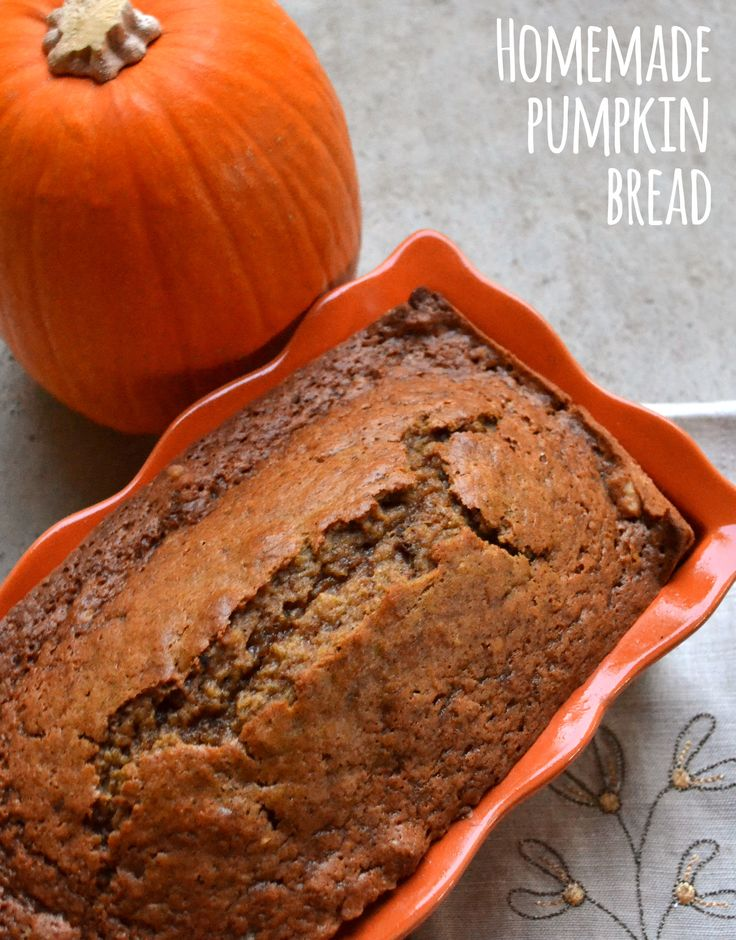 Homemade Pumpkin Bread is one of the best part about the holiday season is all things pumpkins! This bread is delicious and filling, perfect for rushed mornings or a sweet treat.
