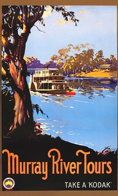 Australian vintage poster - would love a steamboat ride down the Murray!