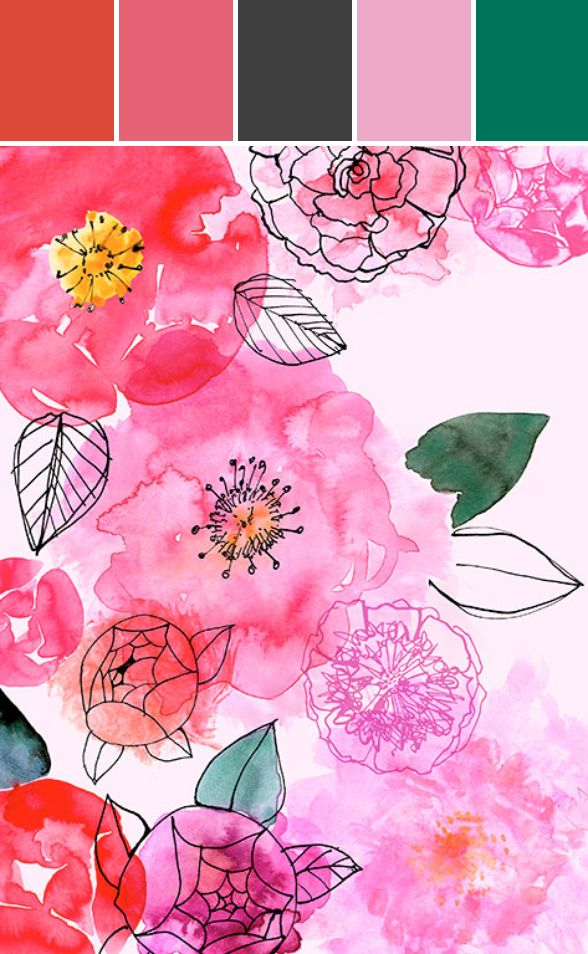 Featured Artist | Margaret Berg Illustrations #florals #color #stylyze