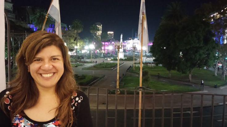 Laura Ávila en el Cabildo.  Mayo de 2015.