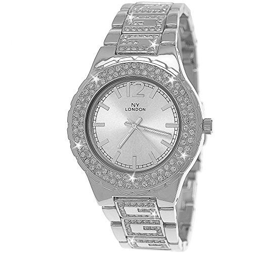 "Edle ""G"" Muster designer Strass Damenuhr,Damen Armband Uhr in Silber D201 - http://kameras-kaufen.de/pure-time-damenuhren/edle-g-muster-designer-strass-damenuhr-damen-uhr"