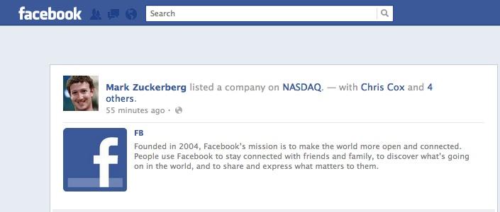 FB IPO status