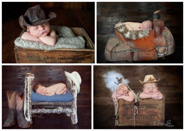 LOVE! This cowboy crew: | 29 Newborns Who Really Nailed Their First Photo Shoot