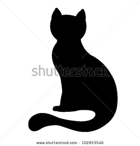 silhouette of a black cat, vector illustration by natali braun, via Shutterstock