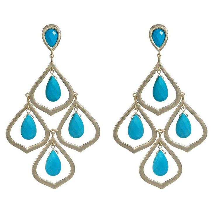 Kendra Scott Kyle Turquoise Earrings