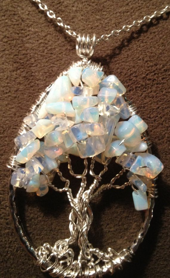 Tree of Life Moonstone Teardrop Handmade Jewelry by Just4FunDesign, $30.00