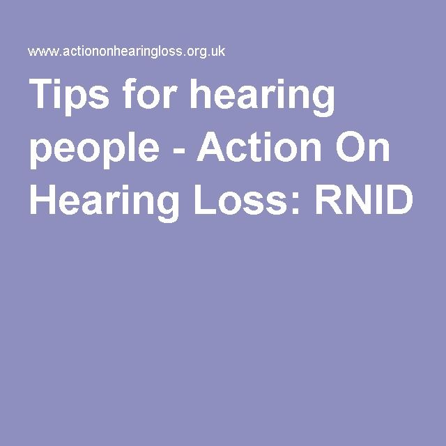 Communication with the hearing impaired: Provides tips for communicating with the hearing impaired and for the hearing impaired