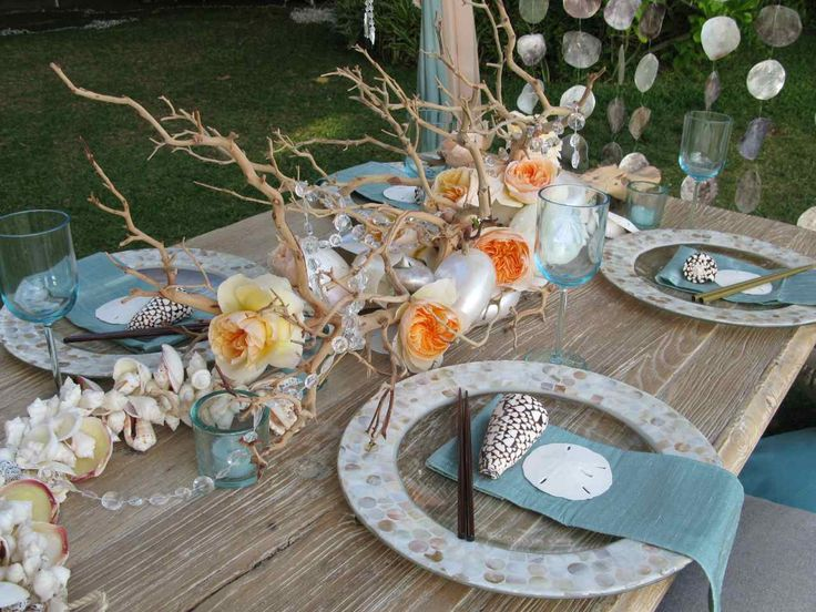 Seaside table decorations my web value find this pin and more on beach wedding table decorations junglespirit Gallery
