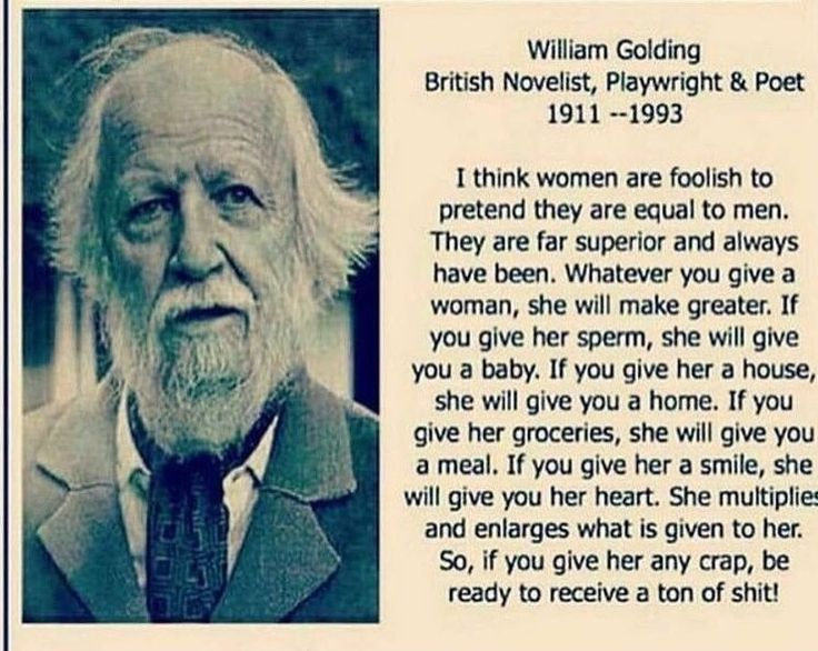 Image result for william golding quote about women