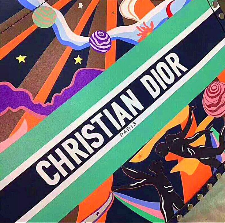 Christian dior inspired multicolored hand painted book