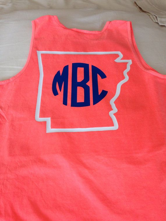 LOVE LOVE LOVE! State Monogram Tank Top by SewWhatAR on Etsy, $22.95