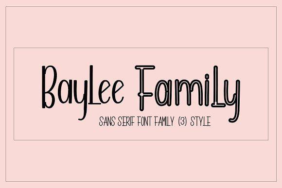 Baylee Family Sans Serif Fonts Serif Fonts Pretty Fonts