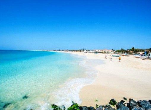 Santa Maria Beach on the Island of Sal in Cape Verde