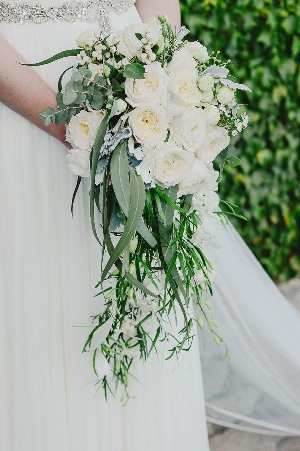 garden rose bouquet with eucalyptus - photo by L&V Photography http://ruffledblog.com/an-elegant-destination-wedding-in-tuscany #weddingbouquet #flowers #bouquets