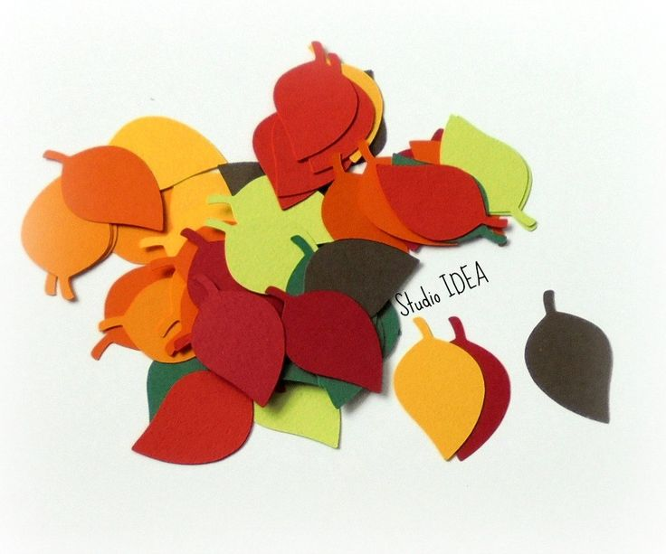 """2"""", 4"""", 5"""" Leaf Cut-outs - Mixed Fall Color Leaves- or Choose Your Colors &…"""