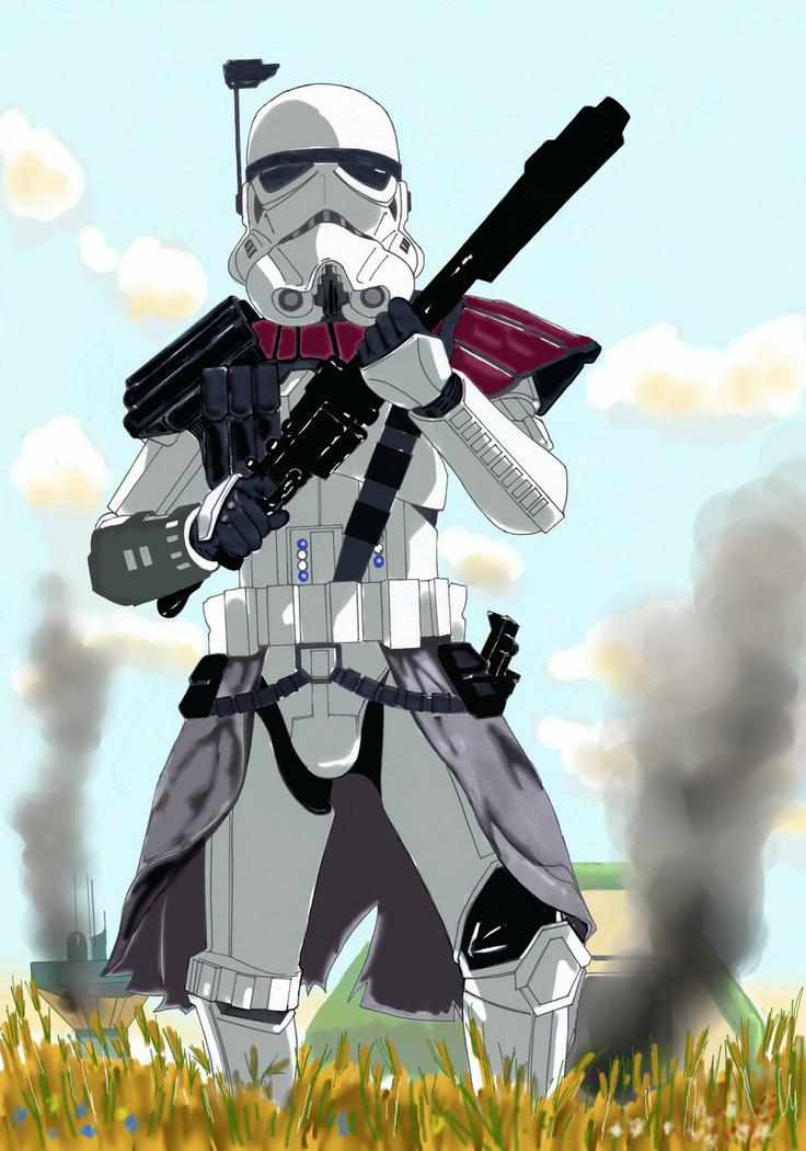 Imperial Arc Trooper Star wars drawings Pinterest