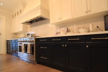 two-tone black and white... kitchen cabinets by Arts Custom Woodcrafting Inc.