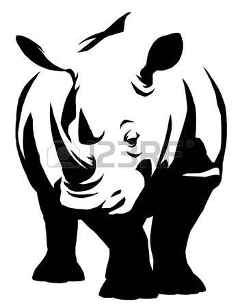 71 best rhinoceros images on pinterest rhinoceros illustrators black and white linear paint draw rhino illustration ccuart Gallery