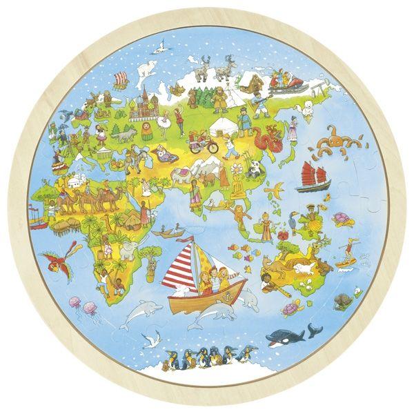 Puzzle, On world tour, Peggy Diggledey - Gollnest & Kiesel Online Shop