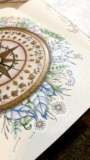 Coloring Books Compass Painting Wind Garden
