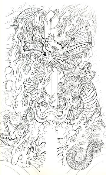26 best images about japanese dragon tattoo stencil on pinterest. Black Bedroom Furniture Sets. Home Design Ideas