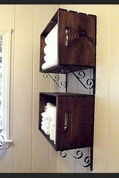 bathroom storage crate
