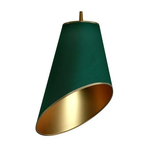 LAMPA wisząca FOGLIE DI SOLE 8030104 Spotlight abażurowa OPRAWA ZWIS złoty zielony