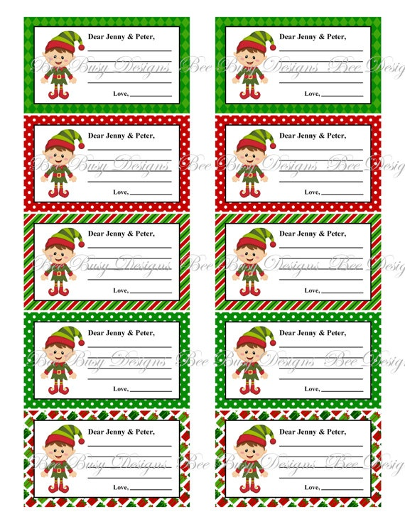Personalized printable Elf Notes. | christmas | Pinterest