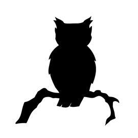 Flying owl stencil - photo#21